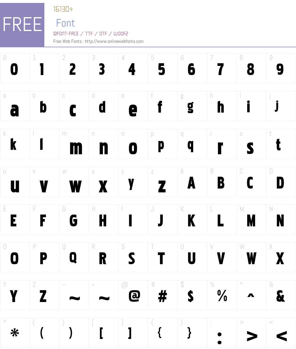 PakenhamW00-CondensedBlack Font Screenshots