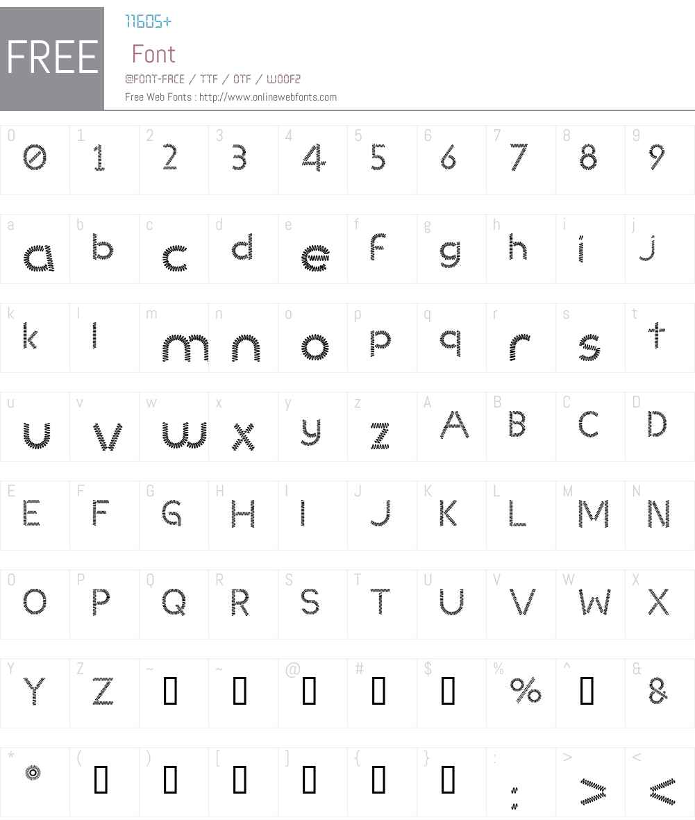 Slinked Font Screenshots