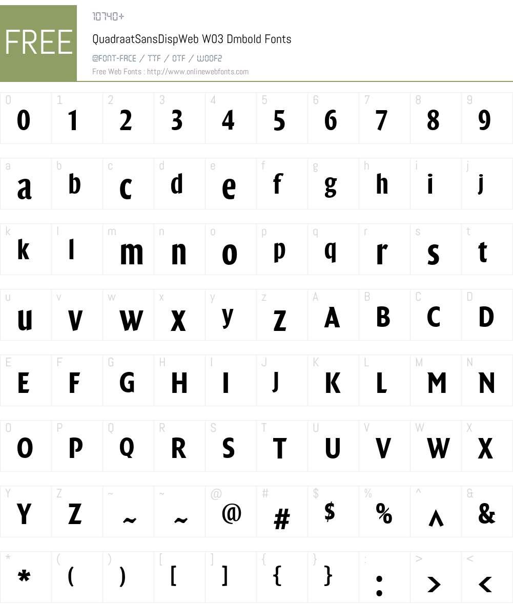 FF Quadraat Sans Display Font Screenshots