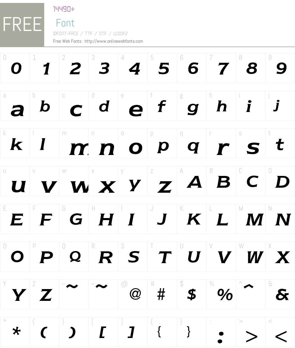 Nebraska Font Screenshots