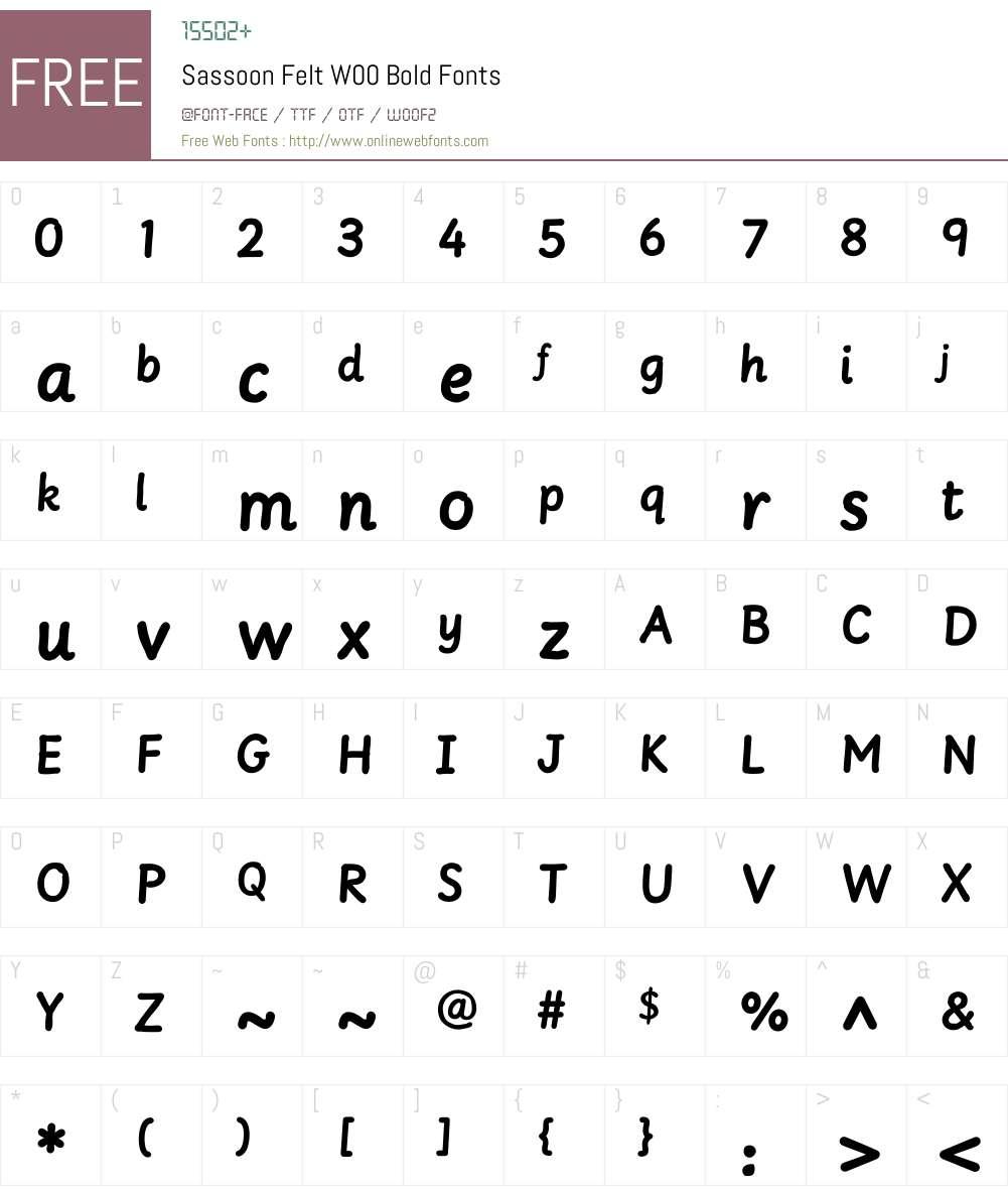 SassoonFeltW00-Bold Font Screenshots