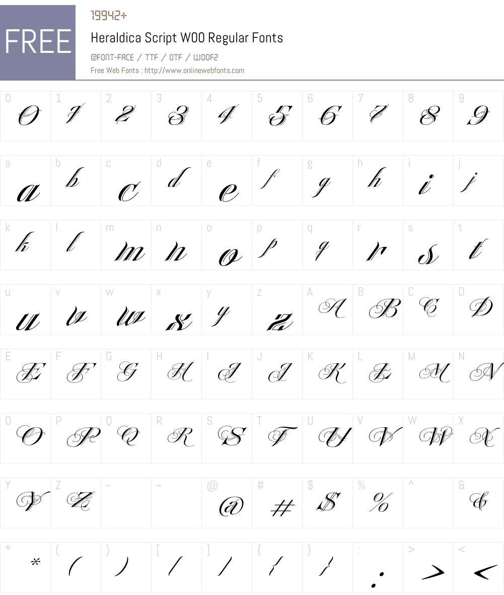 HeraldicaScriptW00-Regular Font Screenshots