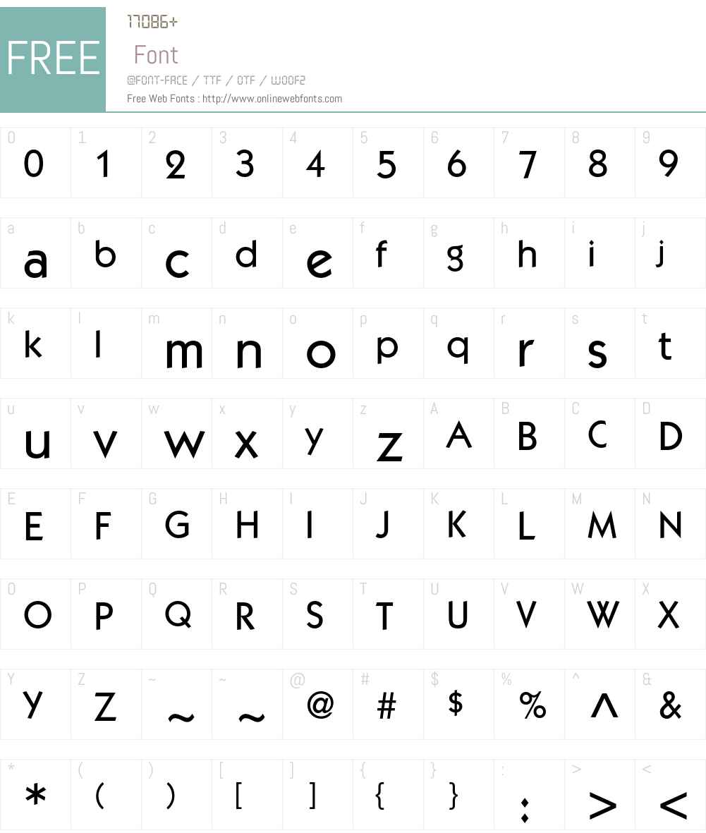 ITC Kabel LT Font Screenshots