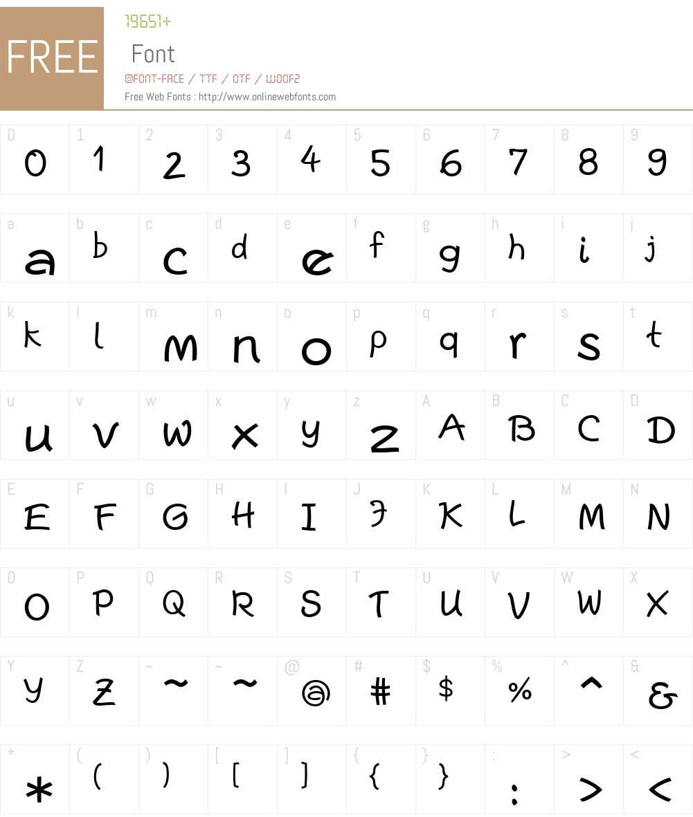 Escript Font Screenshots
