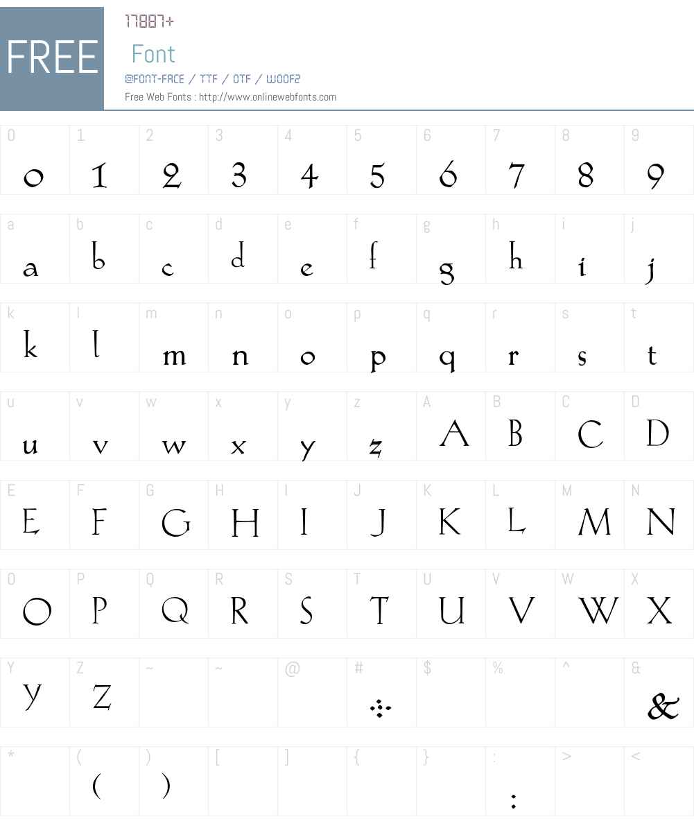 KochRoman Font Screenshots
