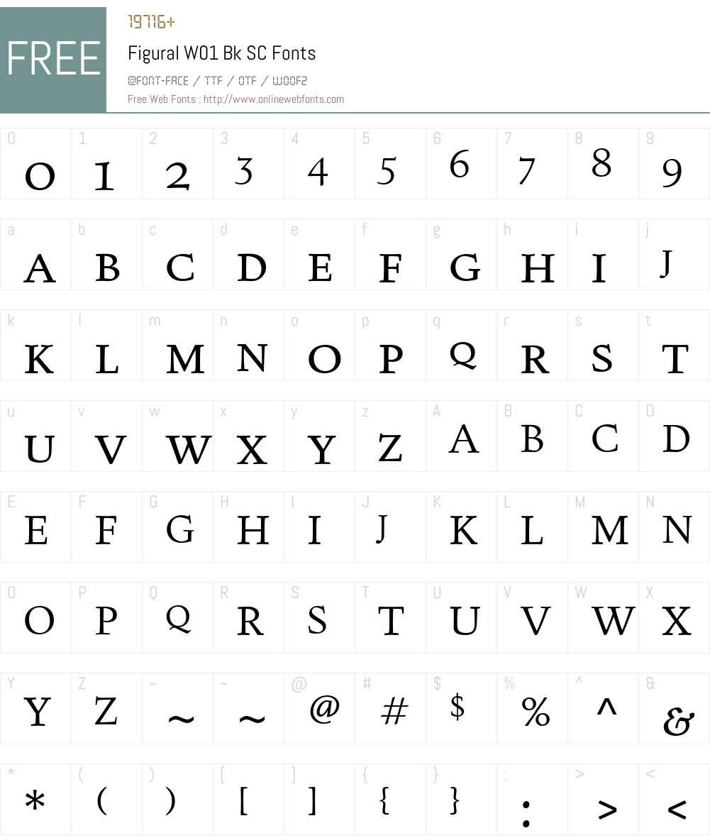 FiguralW01-BkSC Font Screenshots