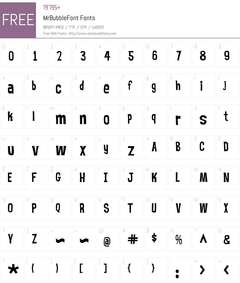 MrBubbleFont Font Screenshots