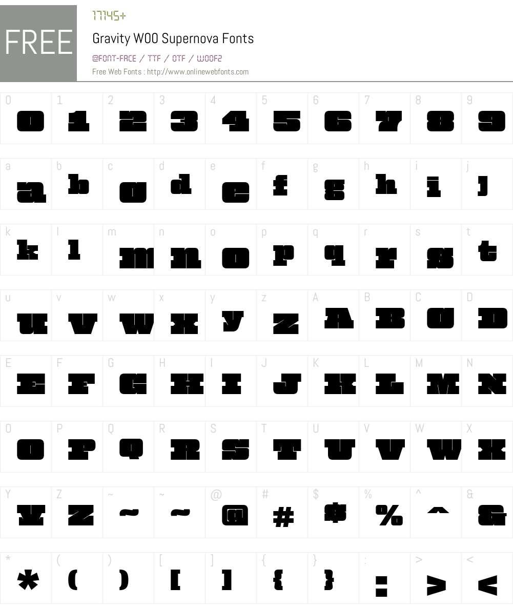 Gravity Font Screenshots