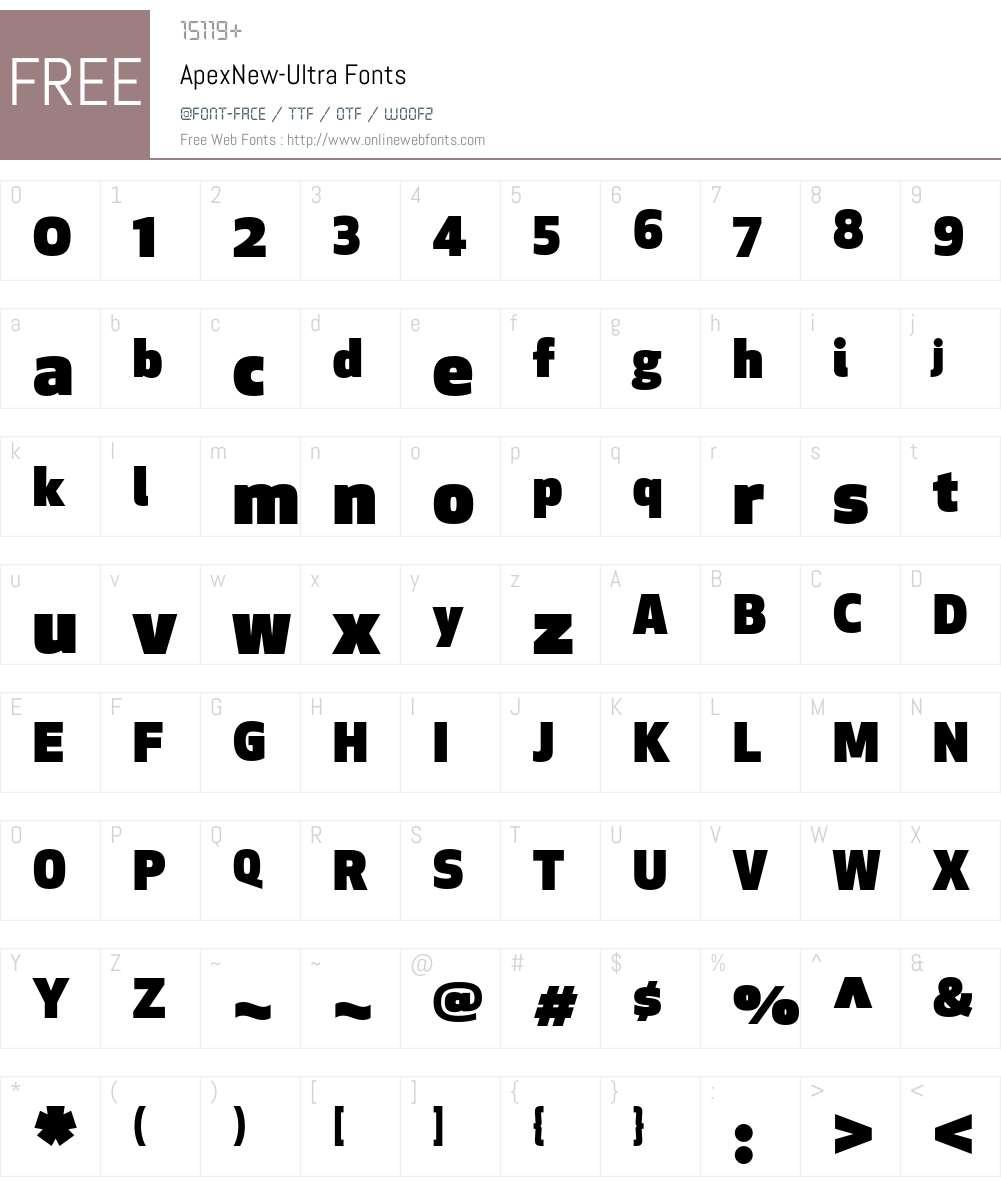 Apex New Font Screenshots