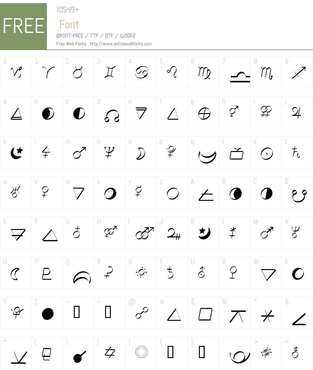 Ann's Astro Calligraphic Font Screenshots