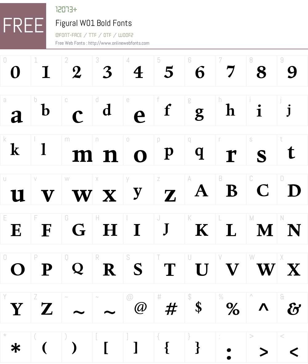 FiguralW01-Bold Font Screenshots