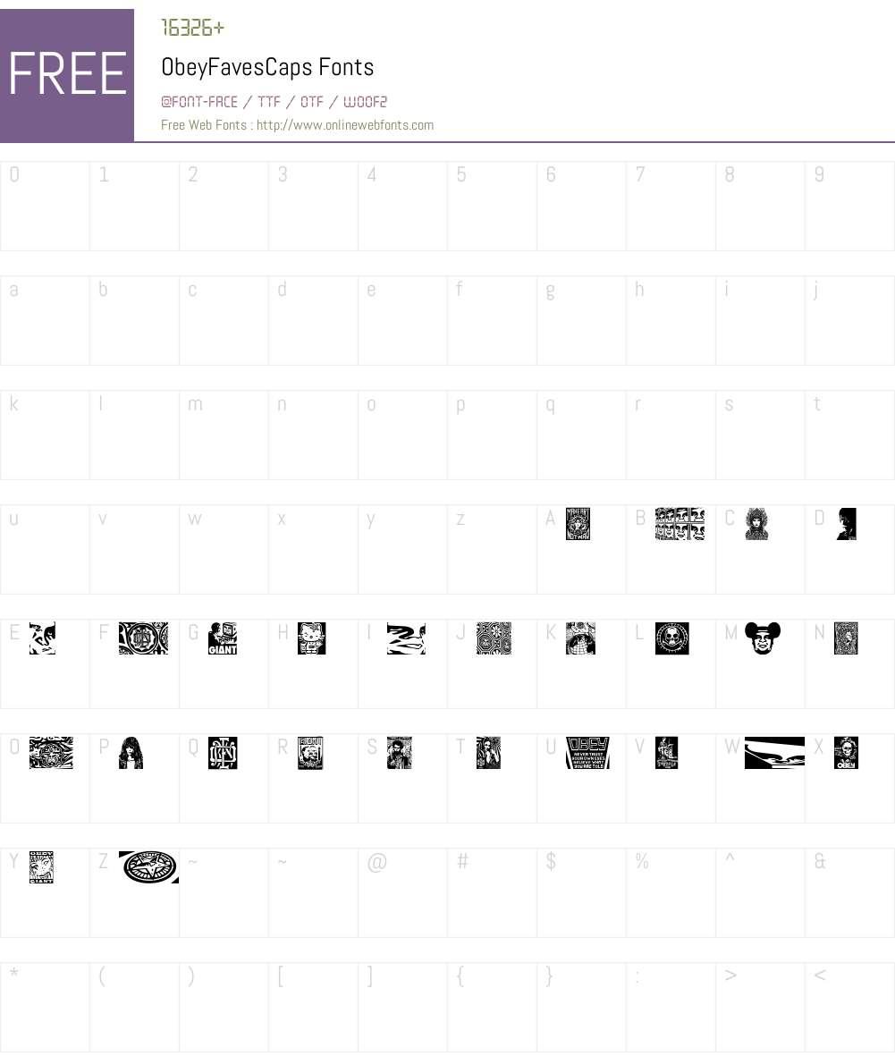 ObeyFavesCaps Font Screenshots