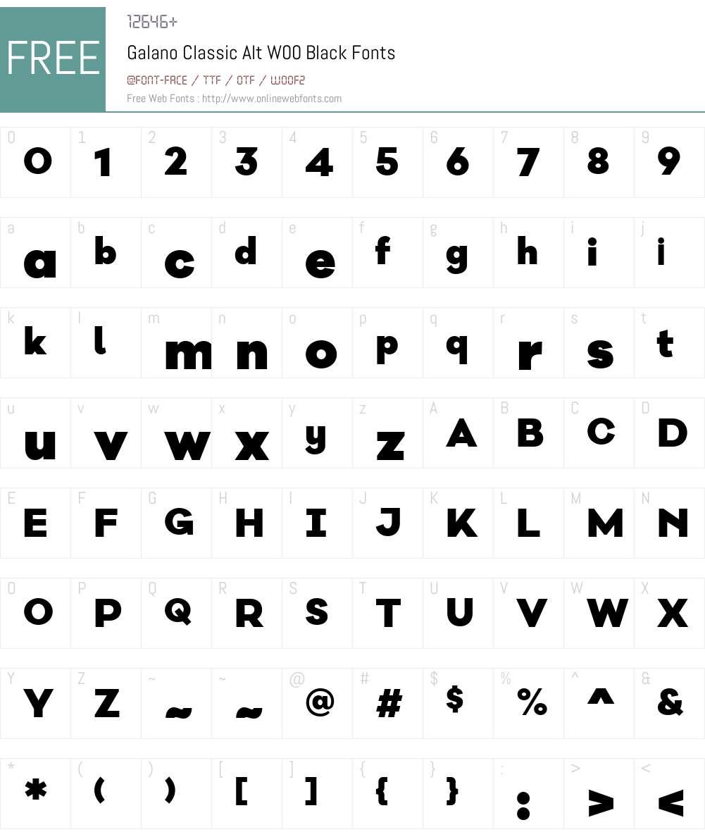 Galano Classic Font Screenshots