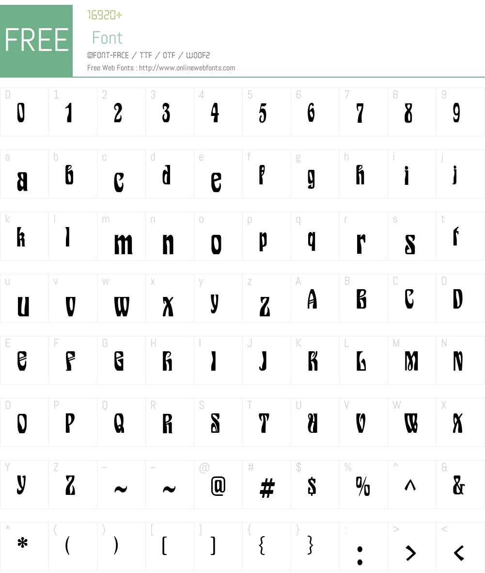 Epoque Font Screenshots