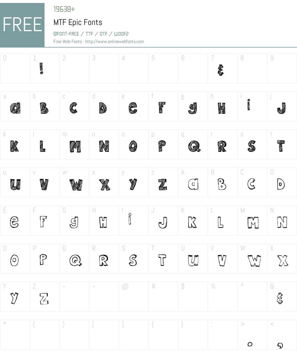 MTF Epic Font Screenshots