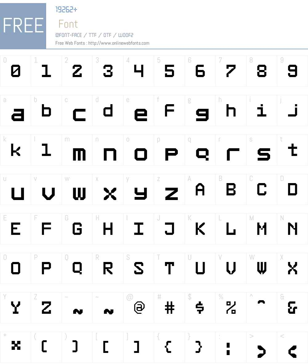 RubberW00-Small Font Screenshots