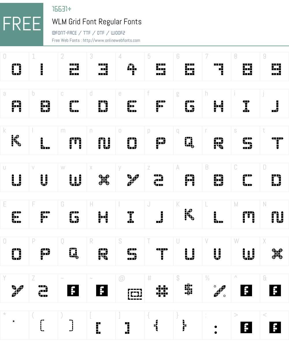 WLM Grid Font Font Screenshots