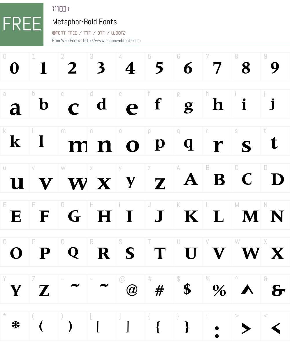 Metaphor Font Screenshots