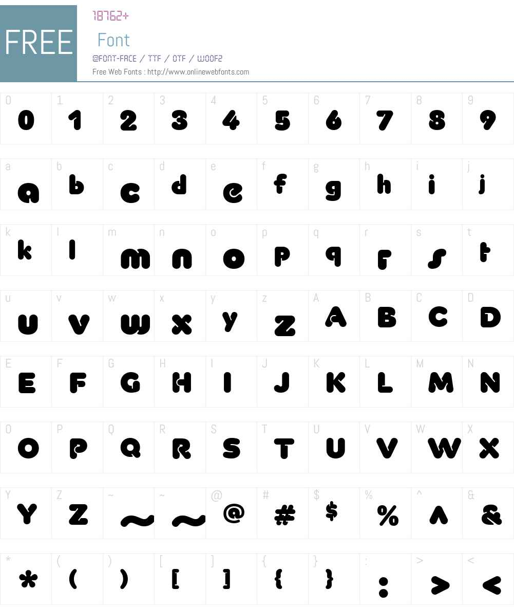 YessW01-Bold Font Screenshots