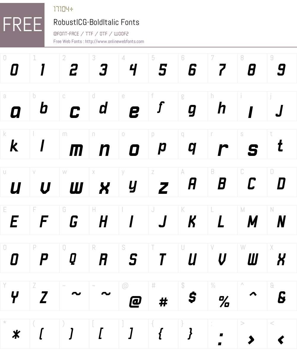 RobustICG Font Screenshots