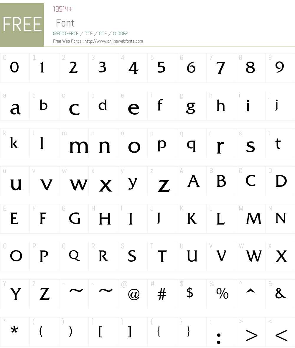 Friz Font Screenshots