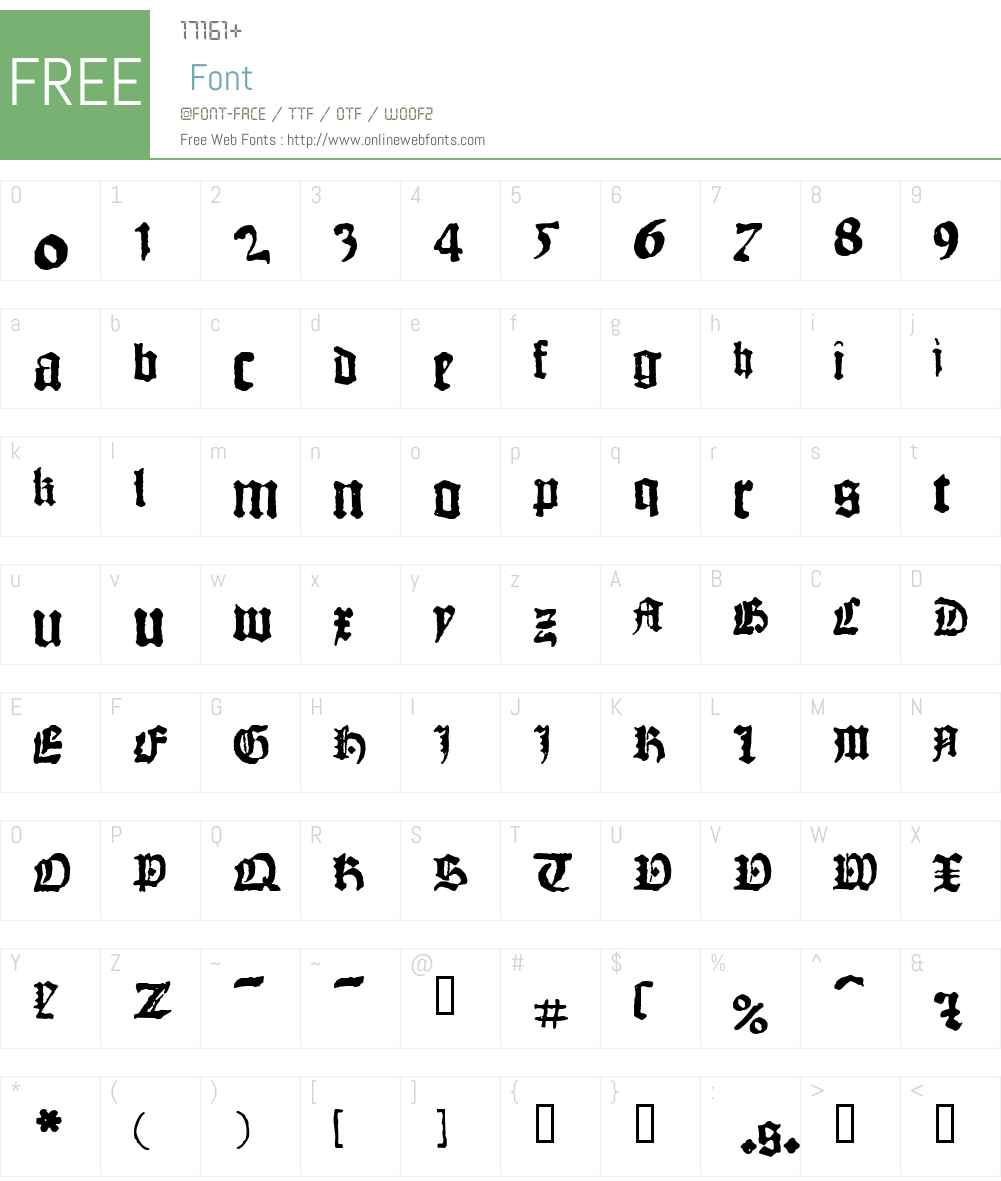 1462_Bamberg Font Screenshots