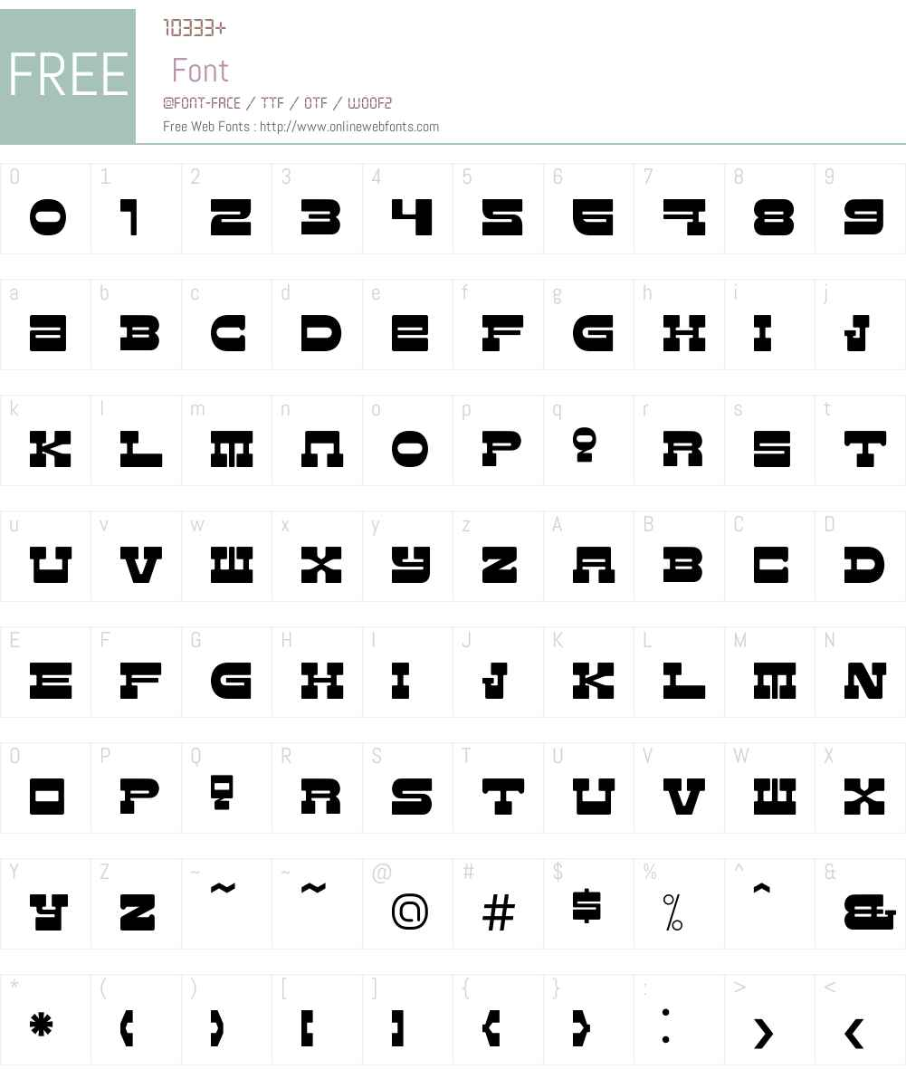 Western Font Screenshots