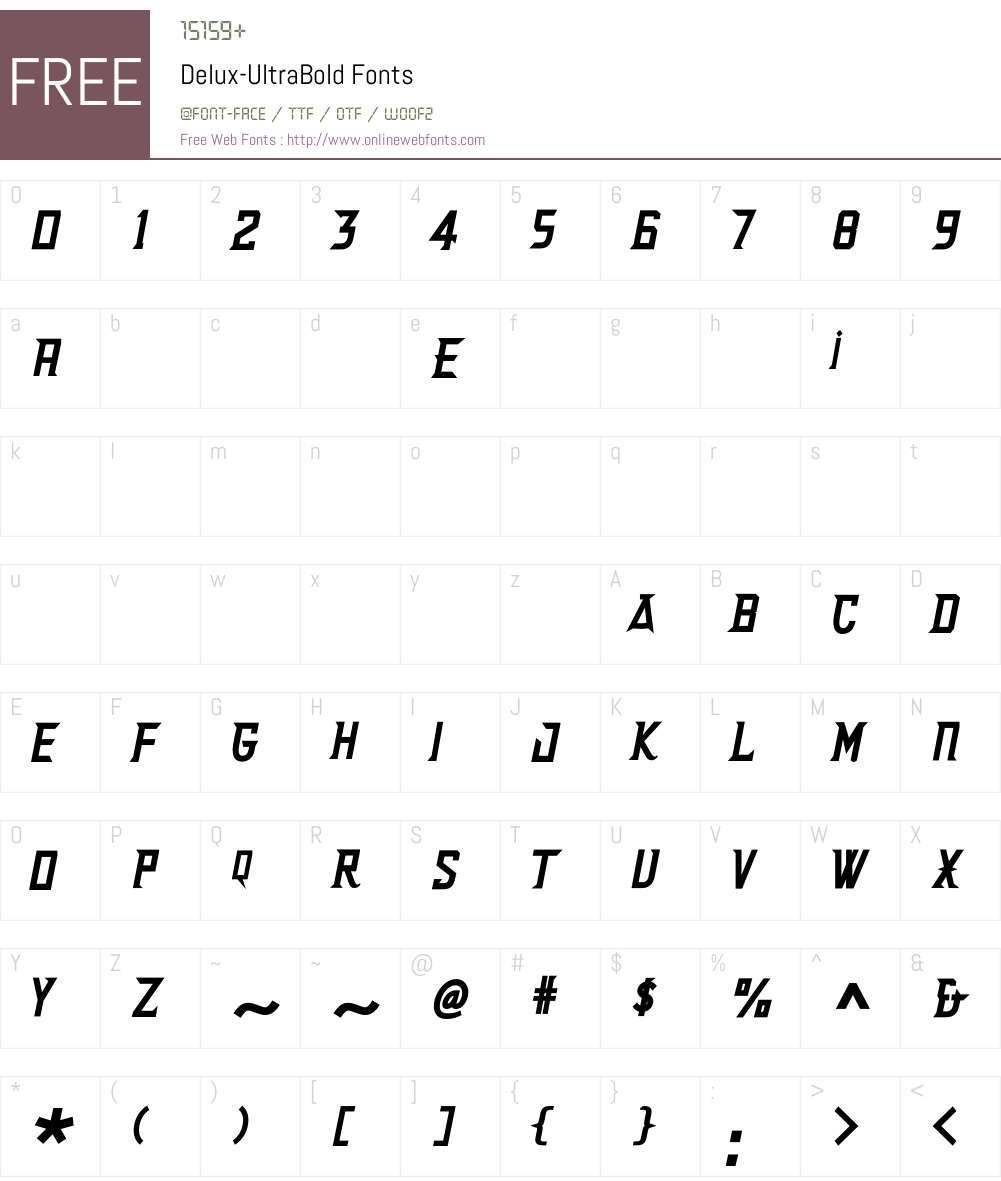 Delux Font Screenshots