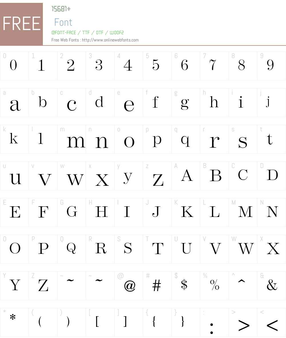 Andrich Font Screenshots