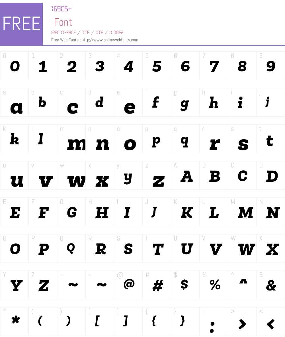 RobleAltW01-BlackItalic Font Screenshots