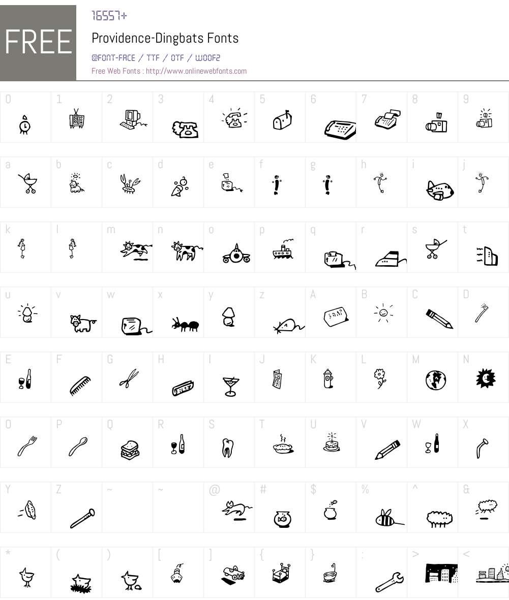 Providence Font Screenshots