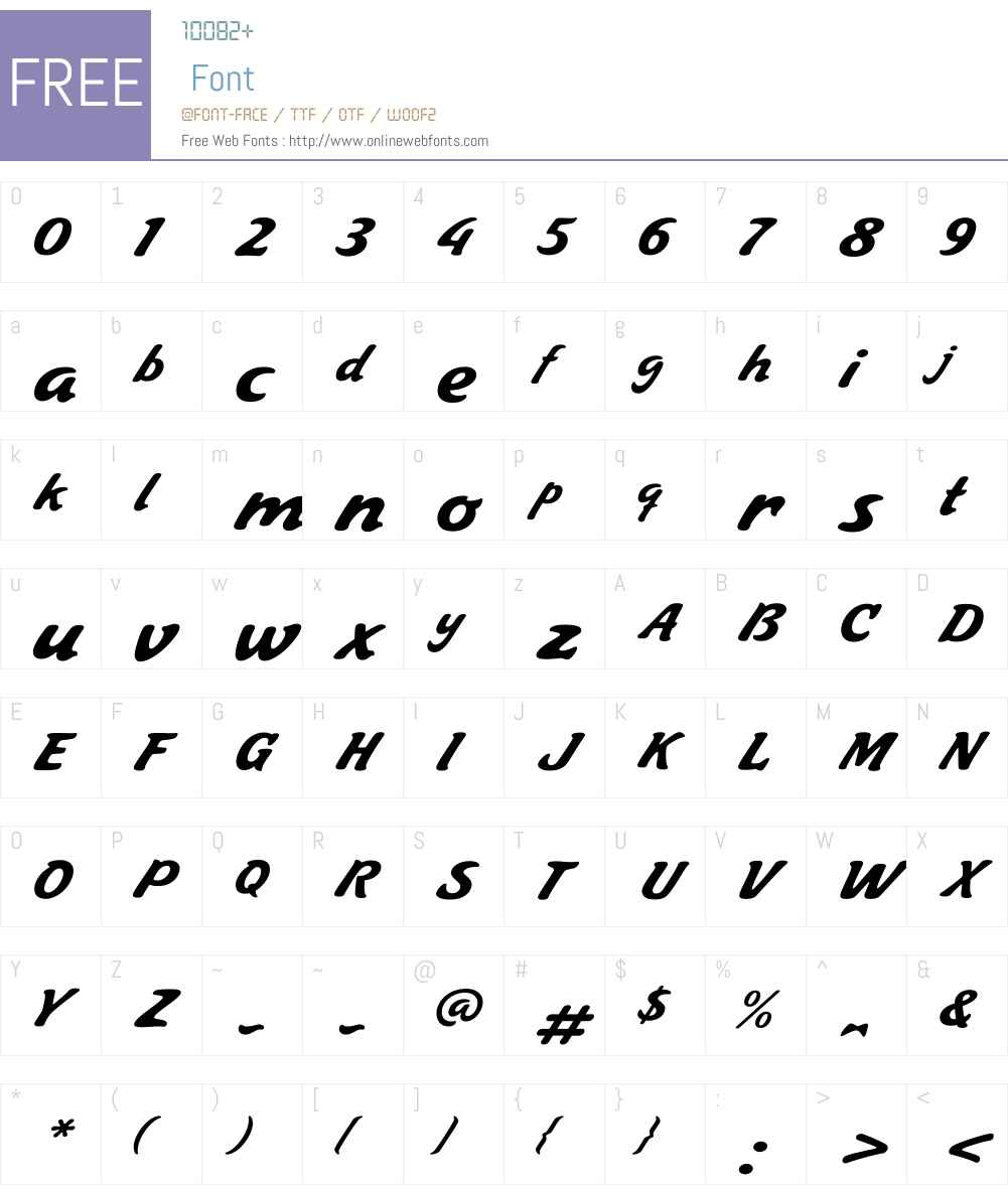 JugoScriptW00-Regular Font Screenshots