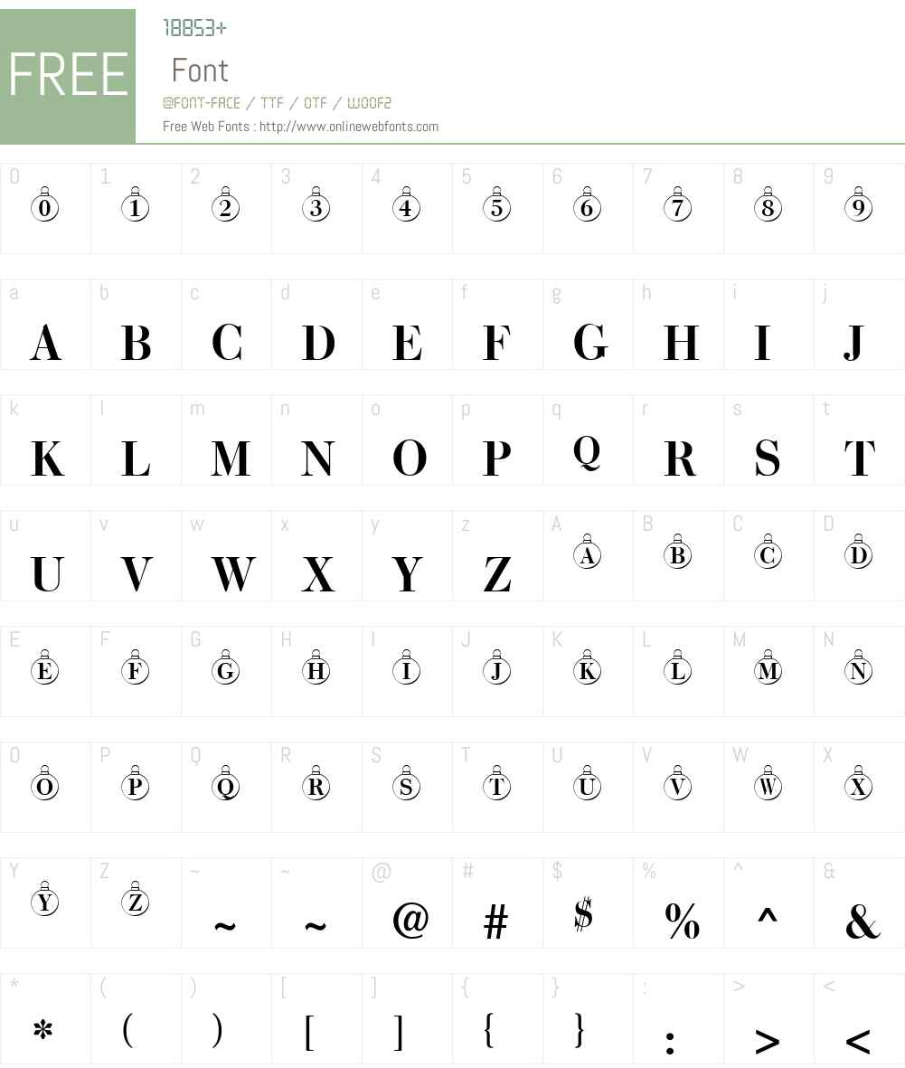 ChristmasTree Font Screenshots