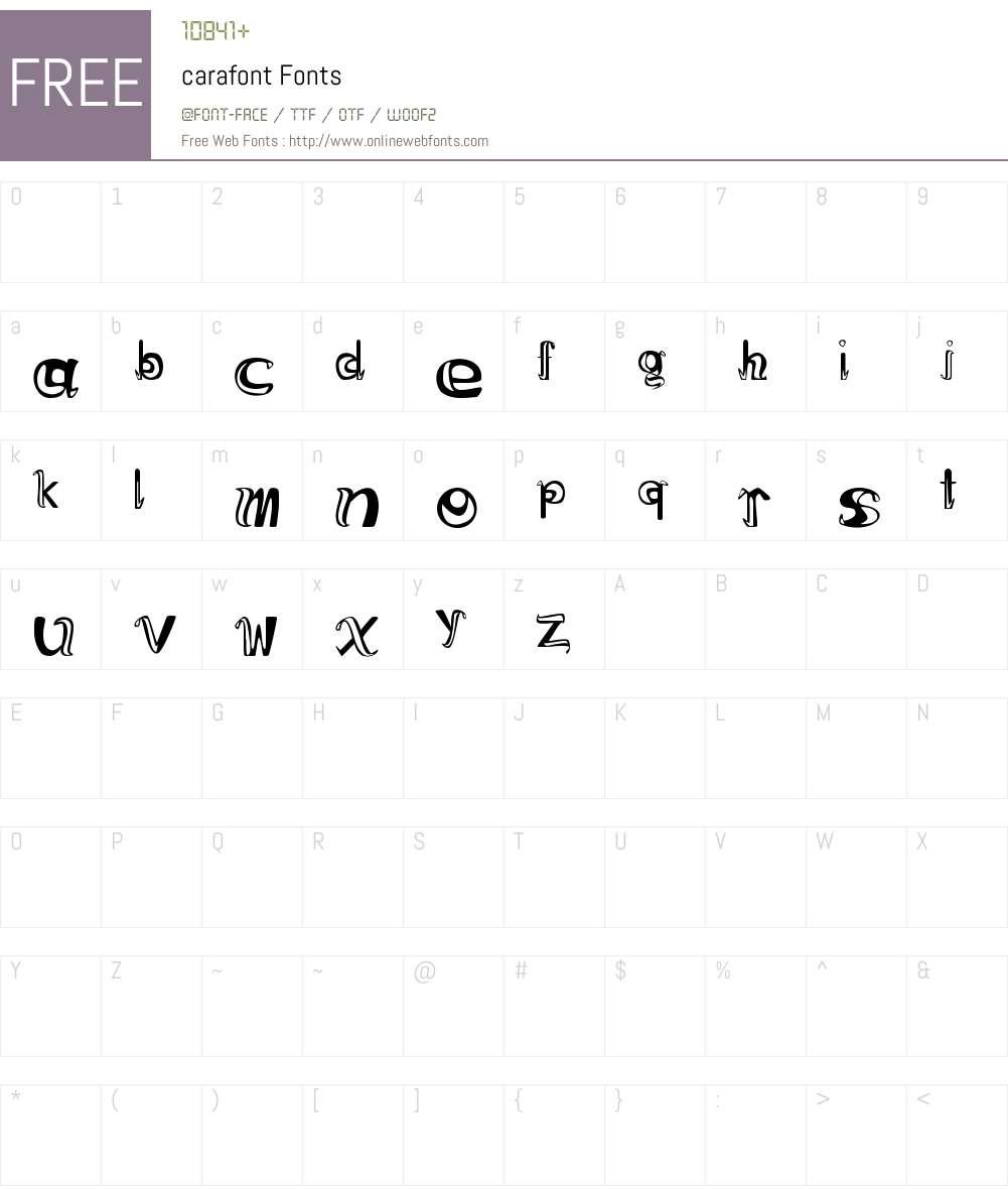 carafont Font Screenshots