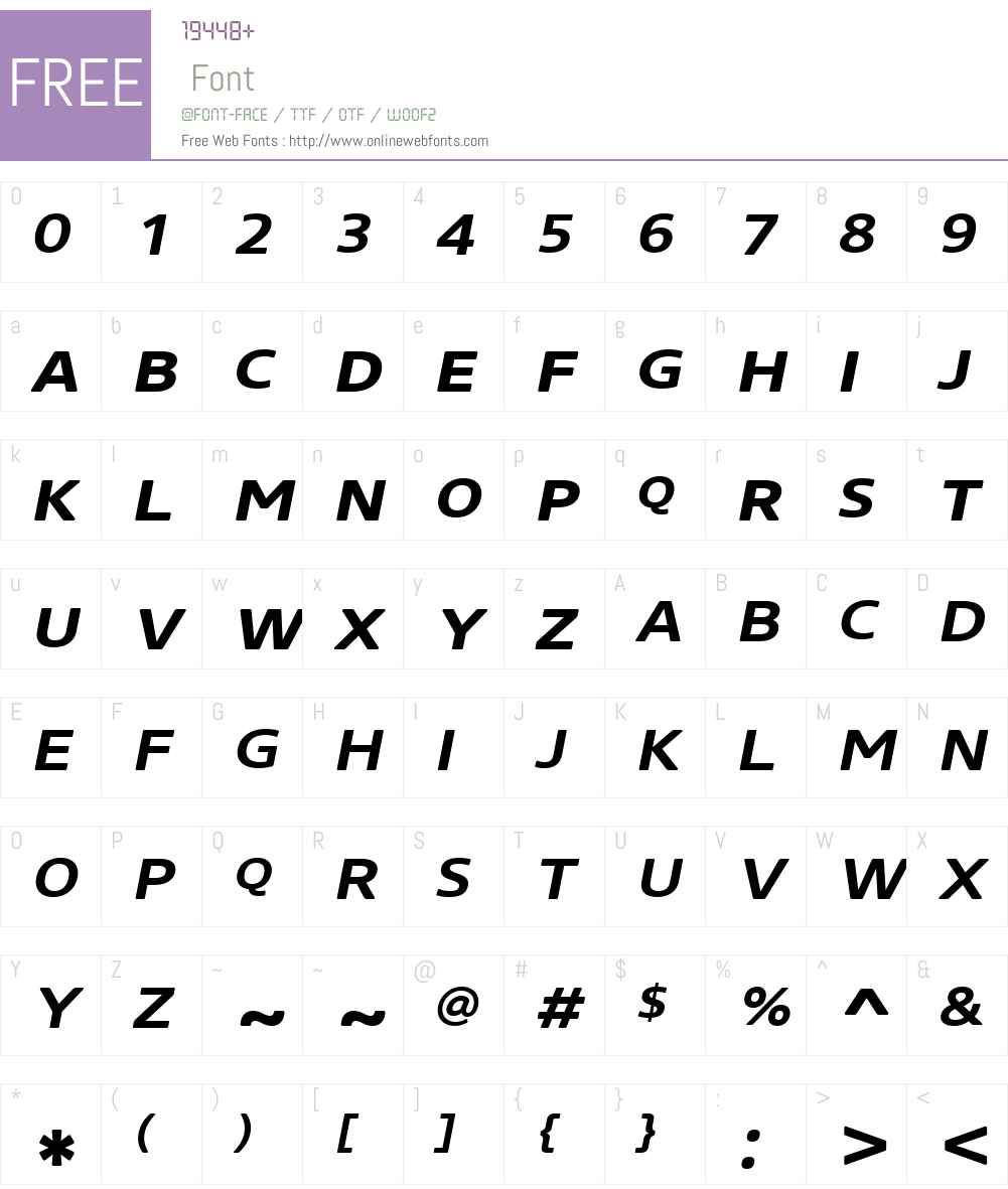 CoreSansNRW01-SC63XBdIt Font Screenshots