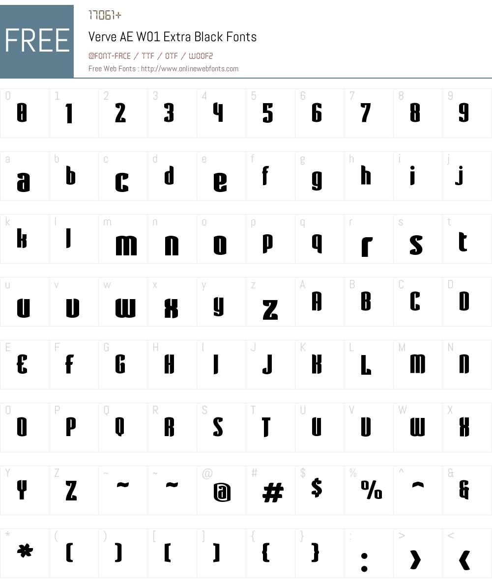 VerveAEW01-ExtraBlack Font Screenshots