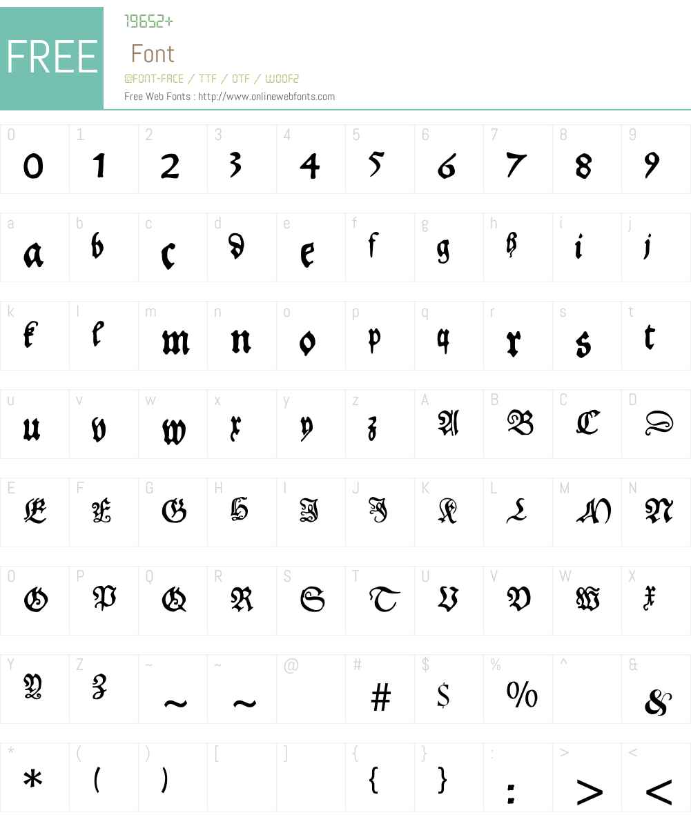Schoensperger Font Screenshots