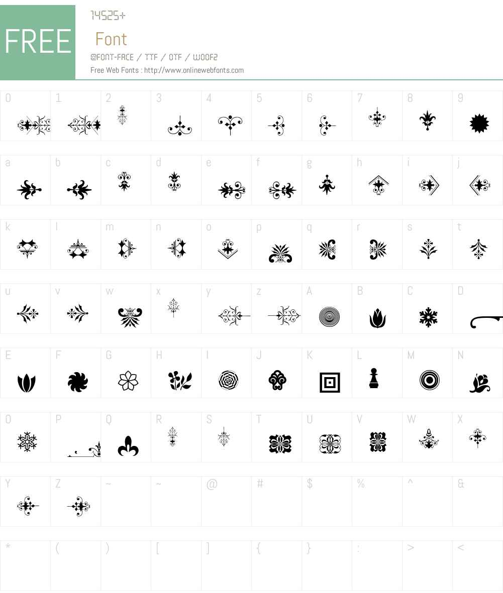 Soft Ornaments 21 Font Screenshots