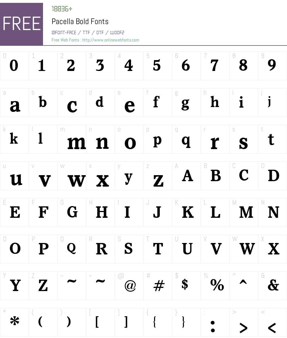 Pacella Font Screenshots