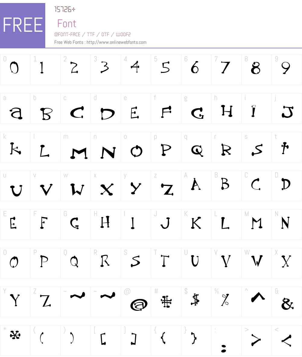 Pot roaster Font Screenshots