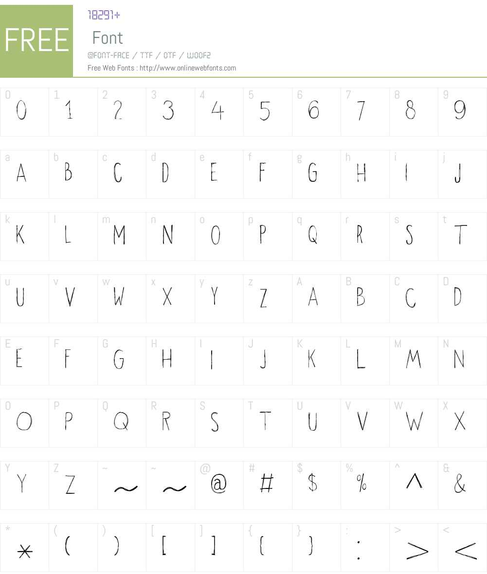 OkikuW00-Regular Font Screenshots