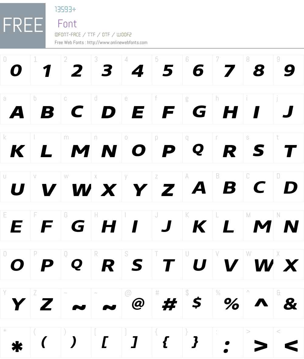 CoreSansNRW01-SC73XXBdIt Font Screenshots