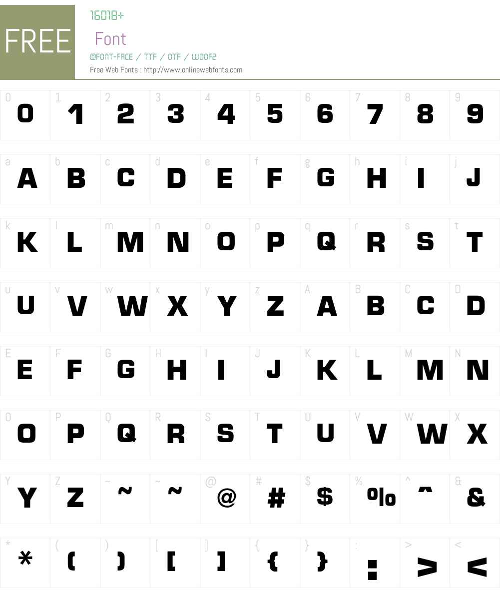 Micro Font Screenshots
