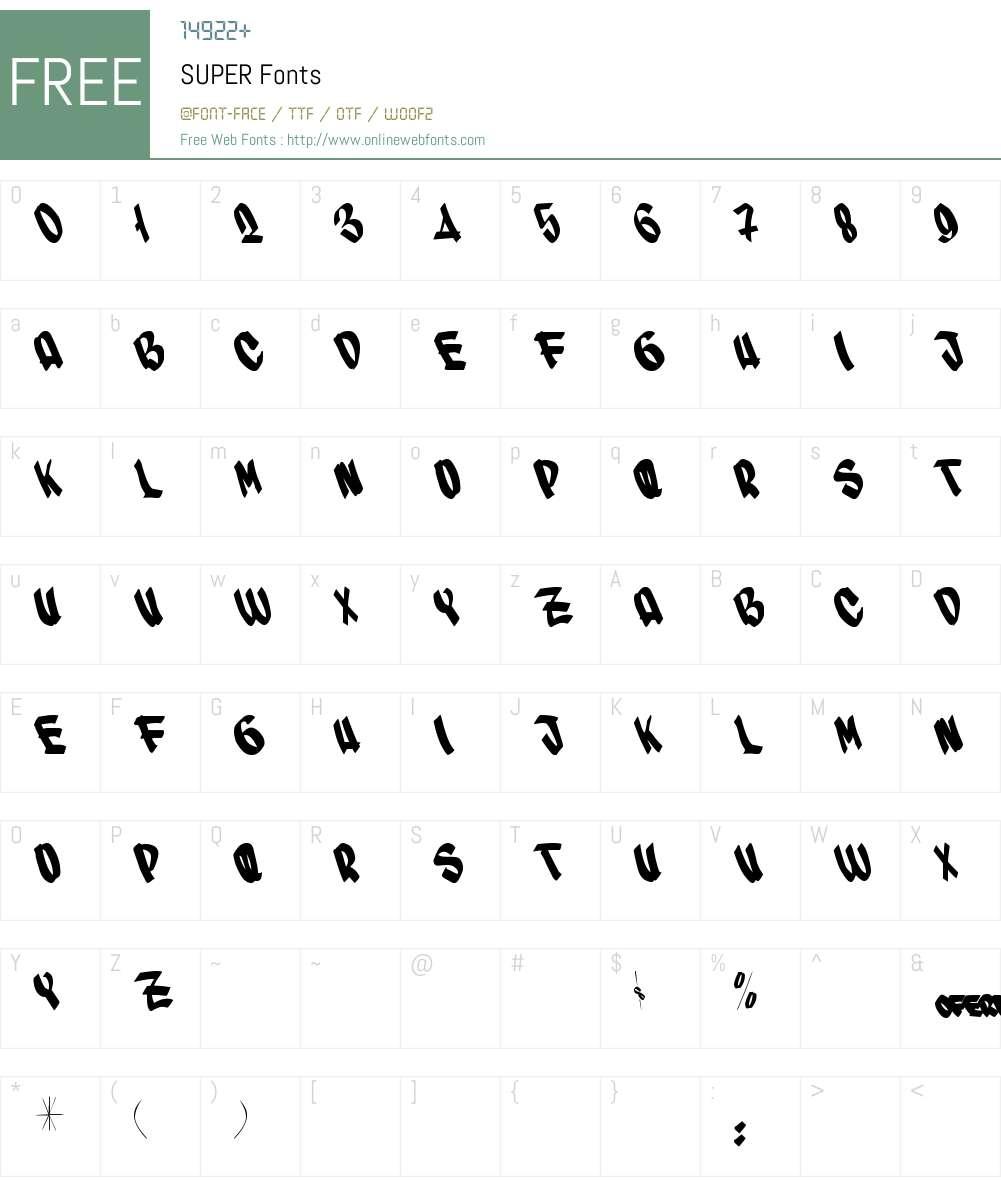 SUPER Font Screenshots