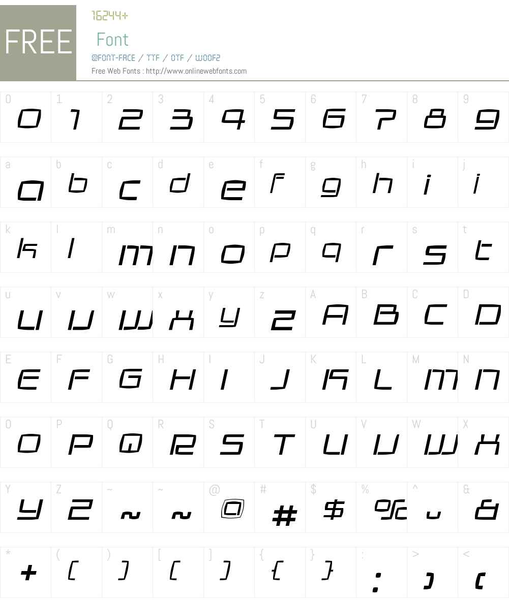 GalaxieW00-LightItalic Font Screenshots