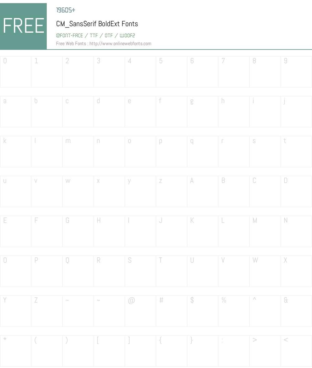 CM_SansSerif Font Screenshots