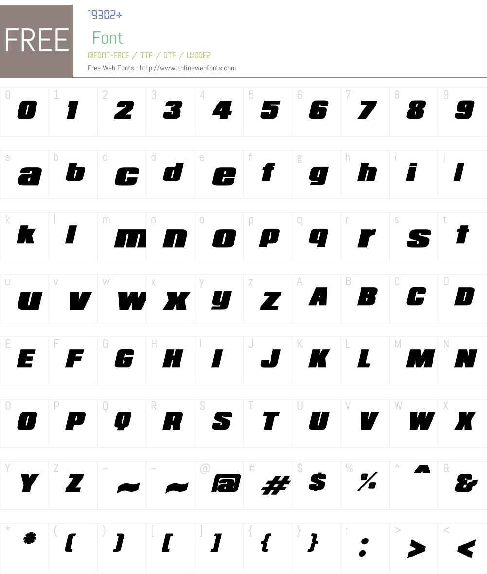 Republica Minor Font Screenshots
