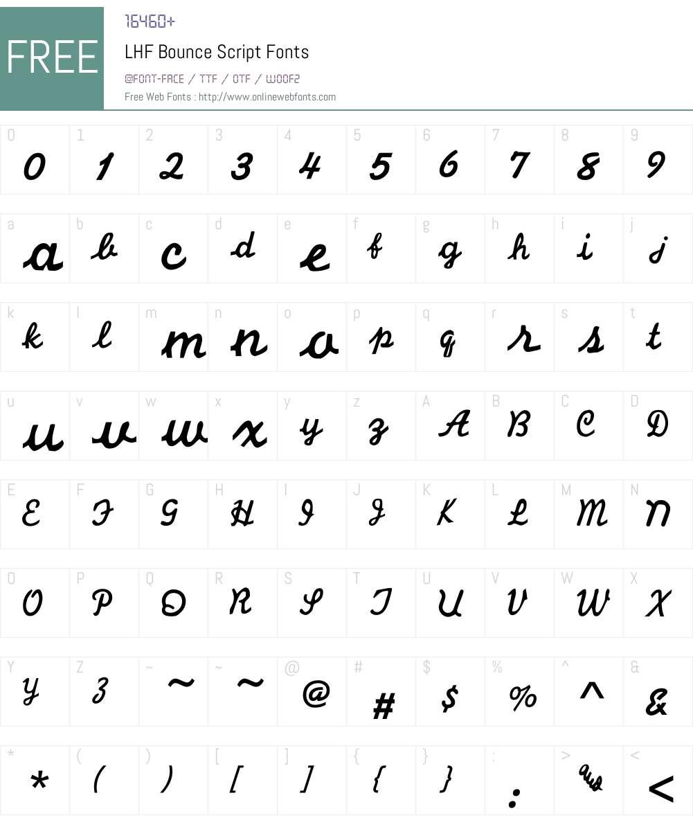 LHF Bounce Script Font Screenshots