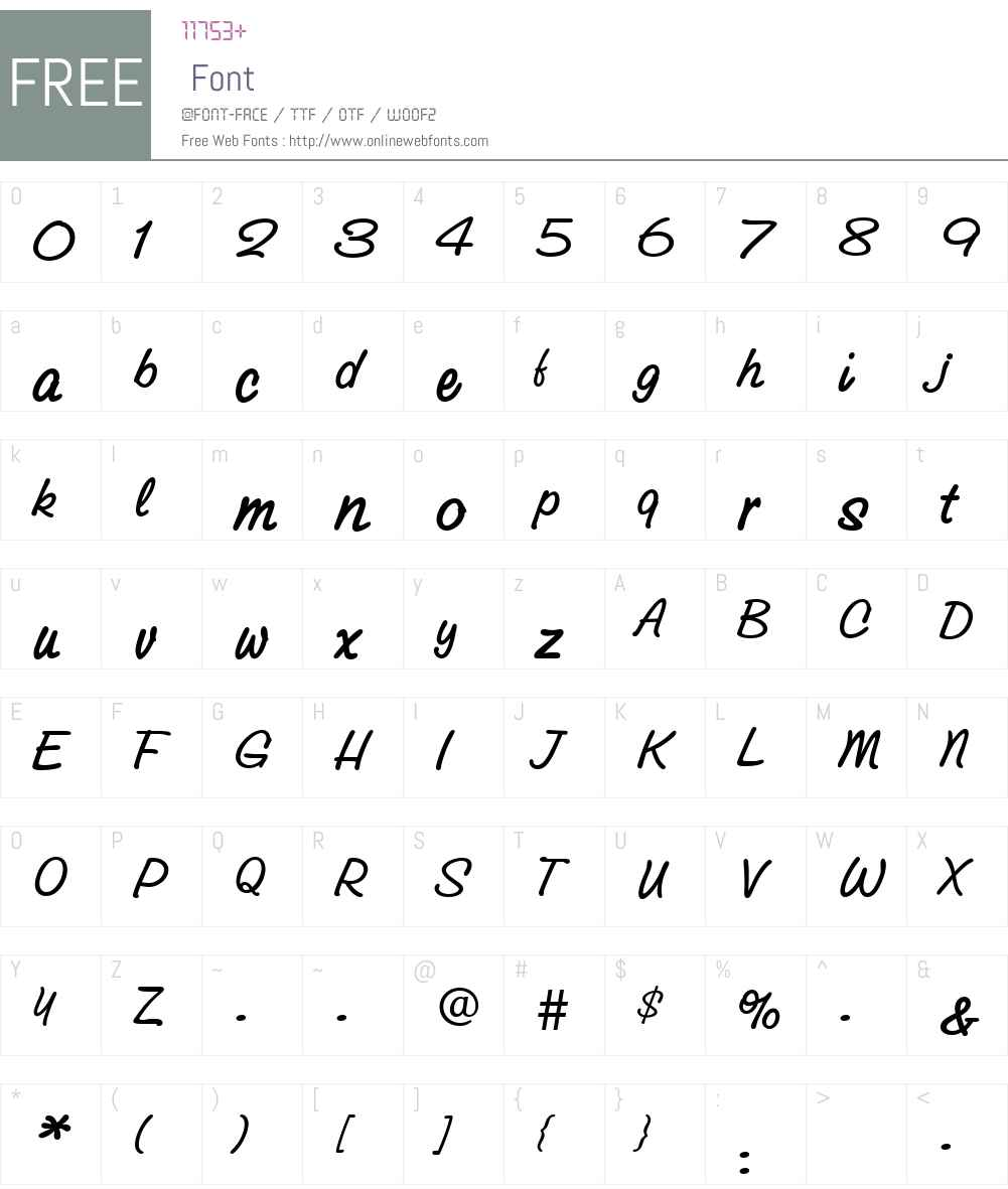 GroveScriptMedium Font Screenshots