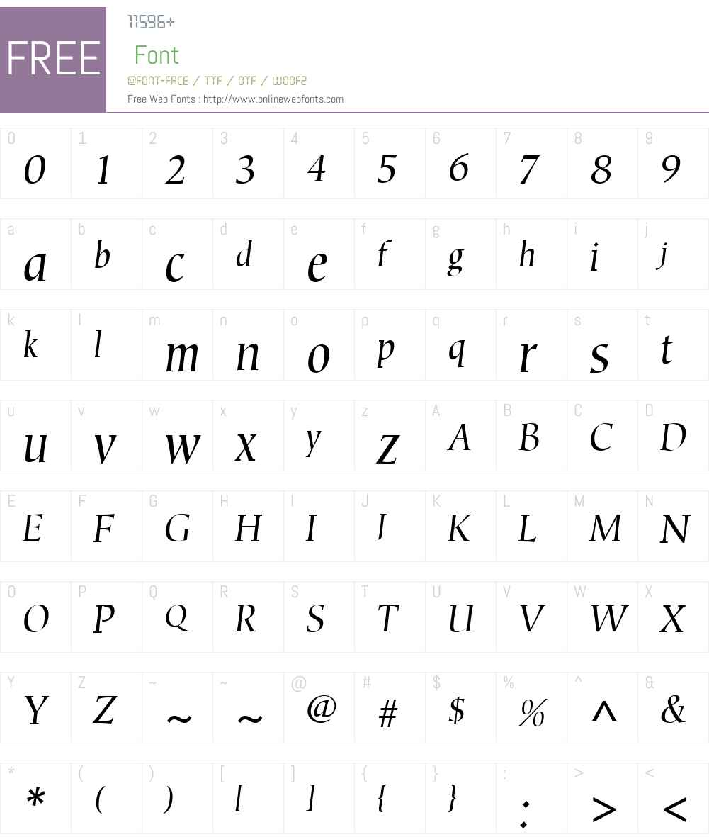 CorvallisW01-Oblique Font Screenshots